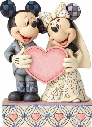Jim Shore Disney 4059748 Wedding Mickey and Minnie