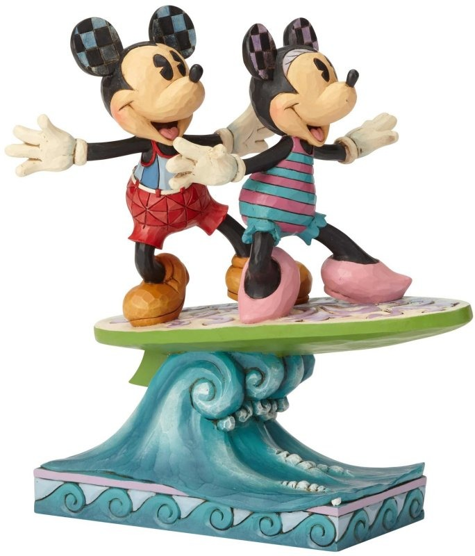 Jim Shore Disney 6001275 Minnie and Mickey Surfbo