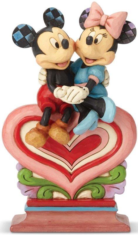 Jim Shore Disney 6001282 Mickey and Minnie Sittin