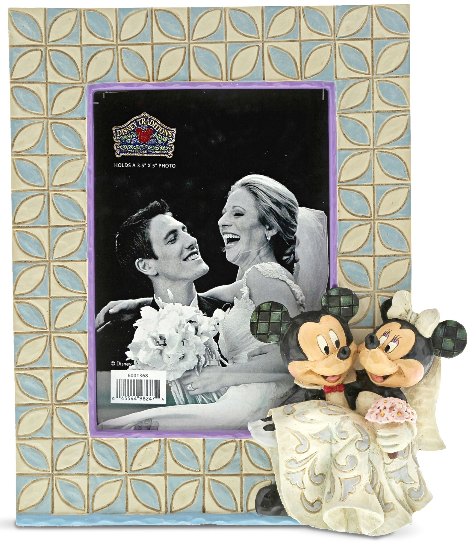 Jim Shore Disney 6001368 Mickey & Minnie Wedding Photo Frame