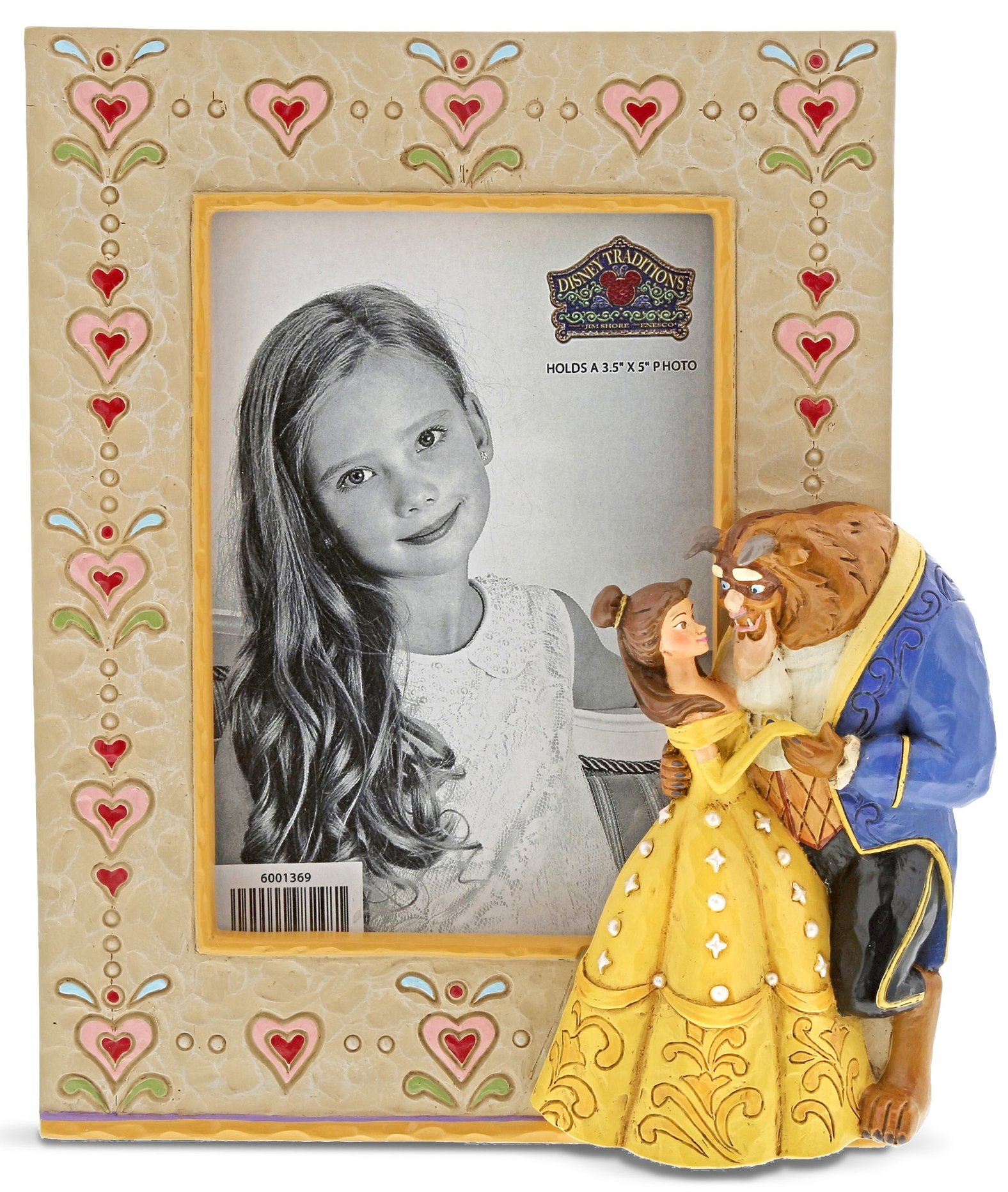 Disney Traditions by Jim Shore 6001369N Beauty and the Beast Photo Frame
