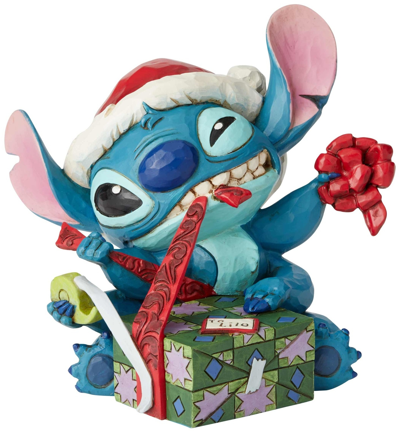 Disney Traditions by Jim Shore 6002833 Santa Stitch Wrapping Presents