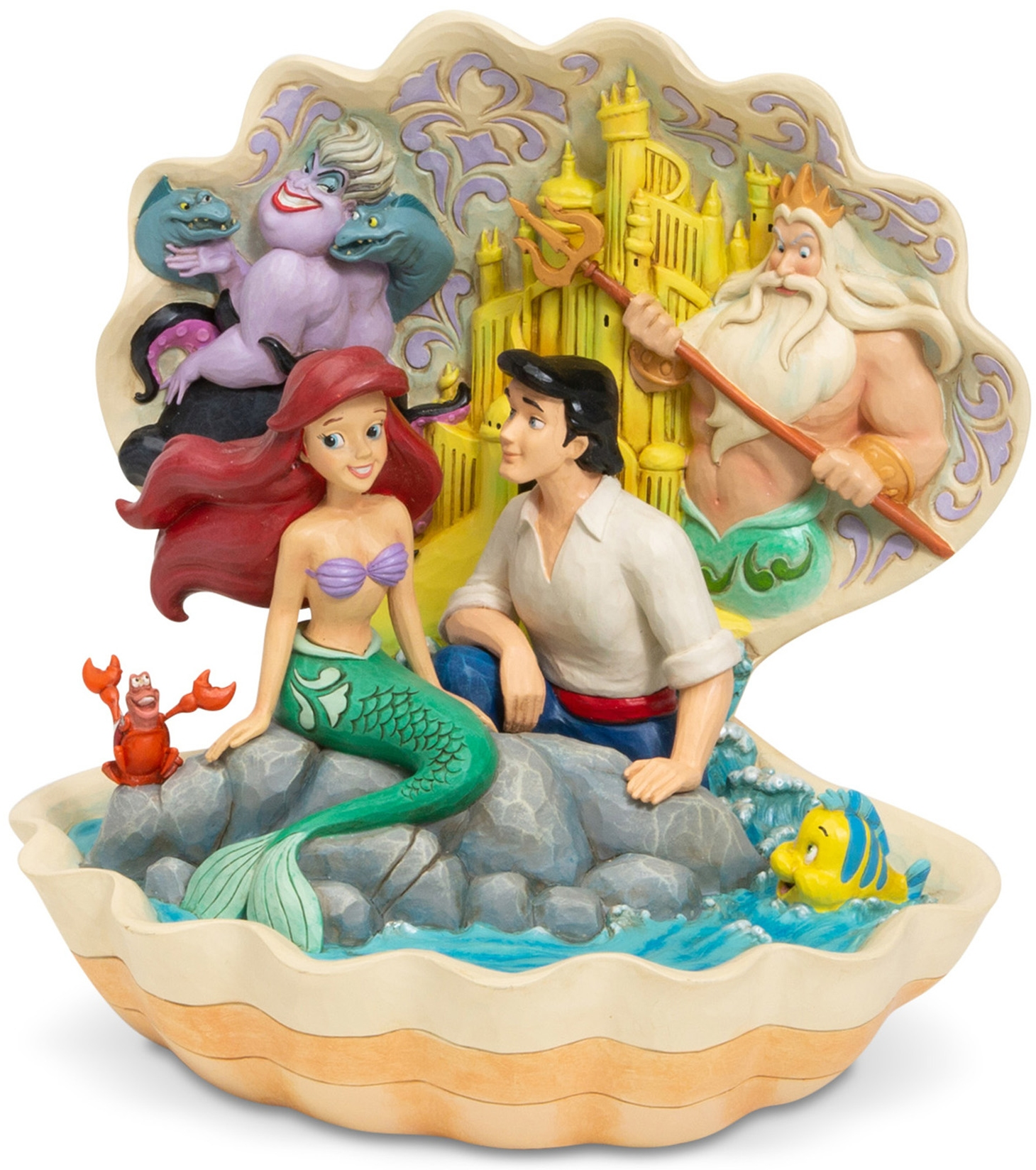 Disney Traditions by Jim Shore 6005956 Little Mermaid Shell Scene Figurine