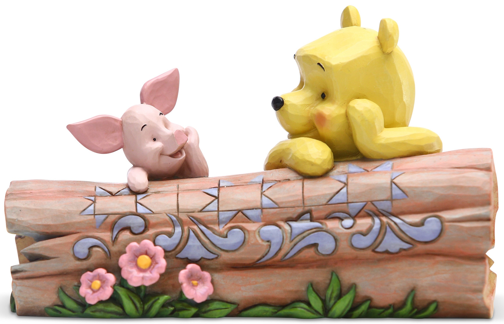 Jim Shore Disney 6005964N Pooh and Piglet on a Log Figurine
