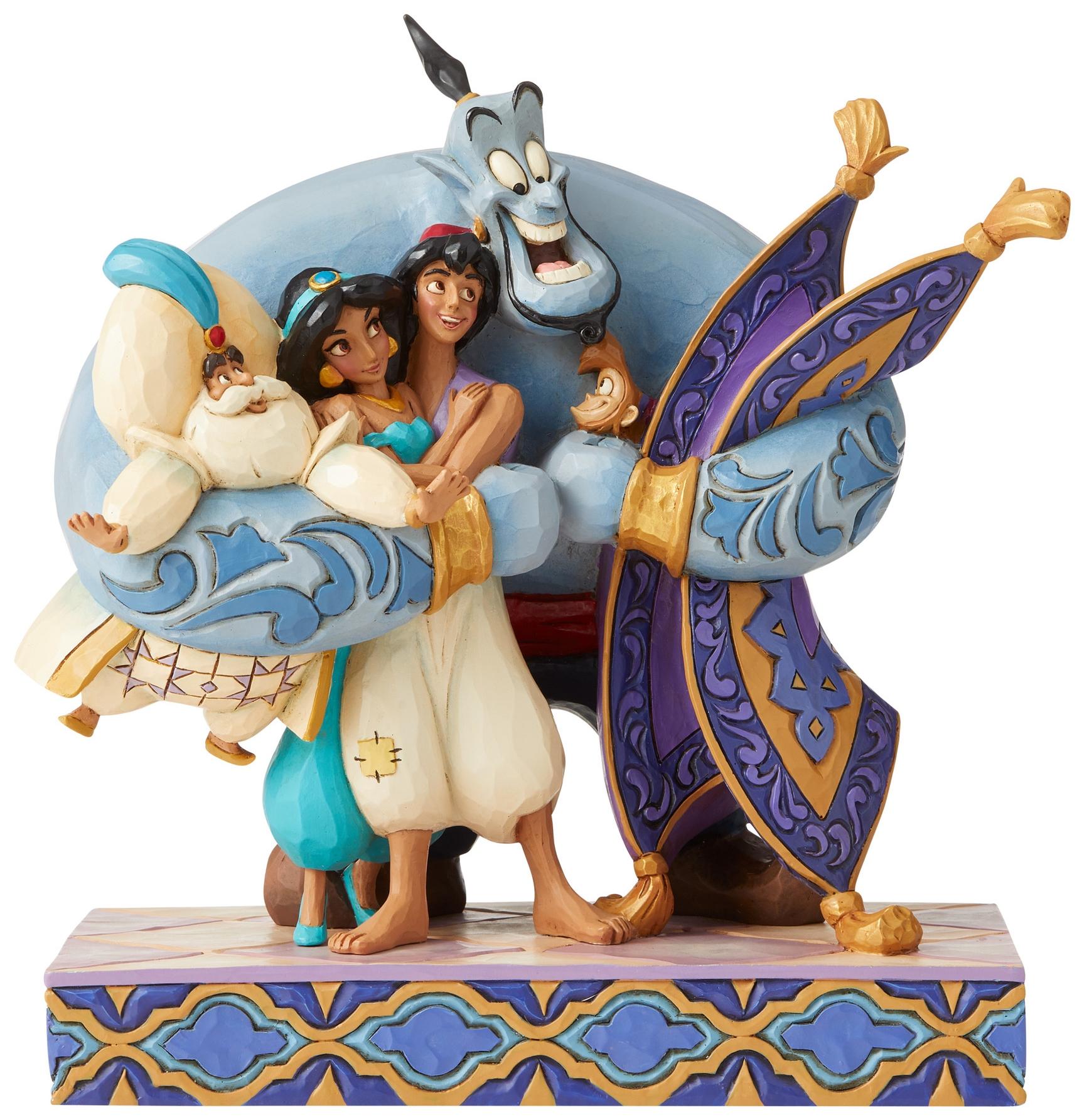 Jim Shore Disney 6005967 Aladdin Group Hug Figurine