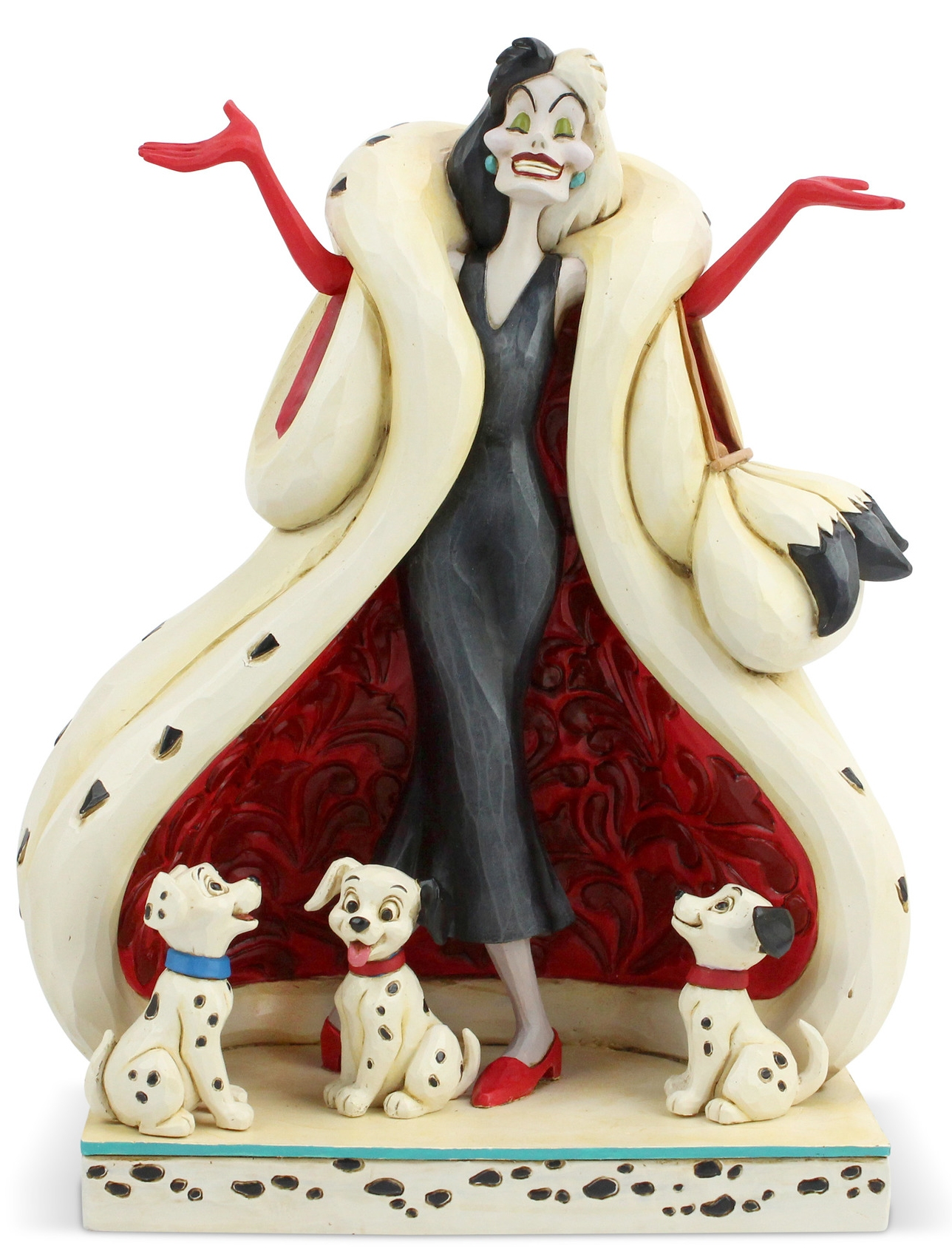 Disney Traditions by Jim Shore 6005970N Cruella with Puppies Figurine