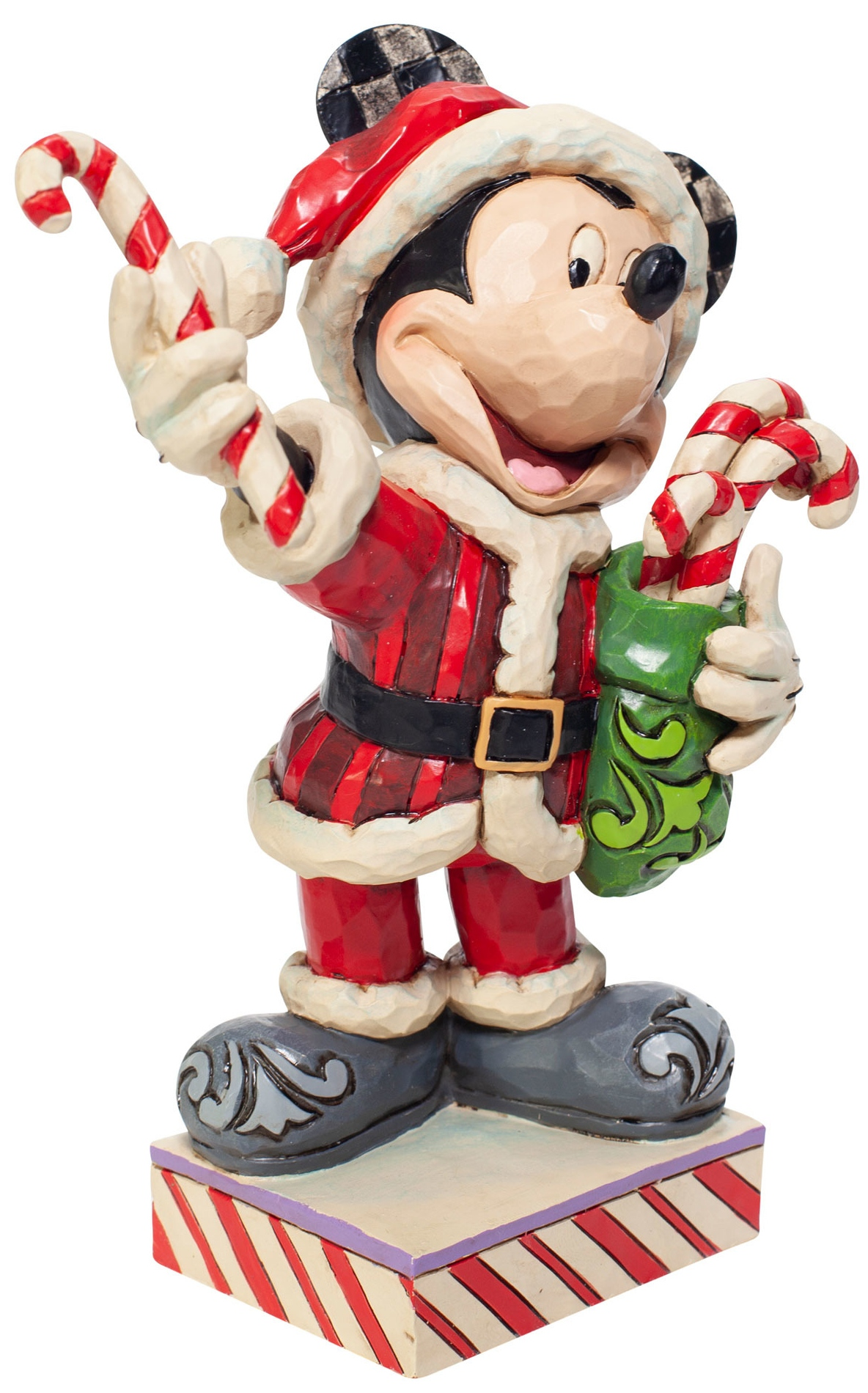 Disney Traditions by Jim Shore 6007068 Santa Mickey with Candy Figurine