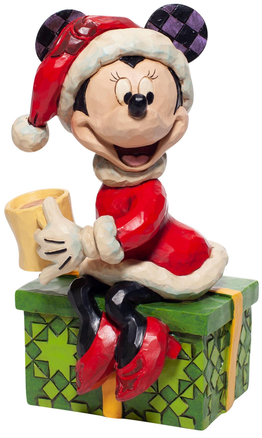 Jim Shore Disney 6007069N Santa Minnie Figurine