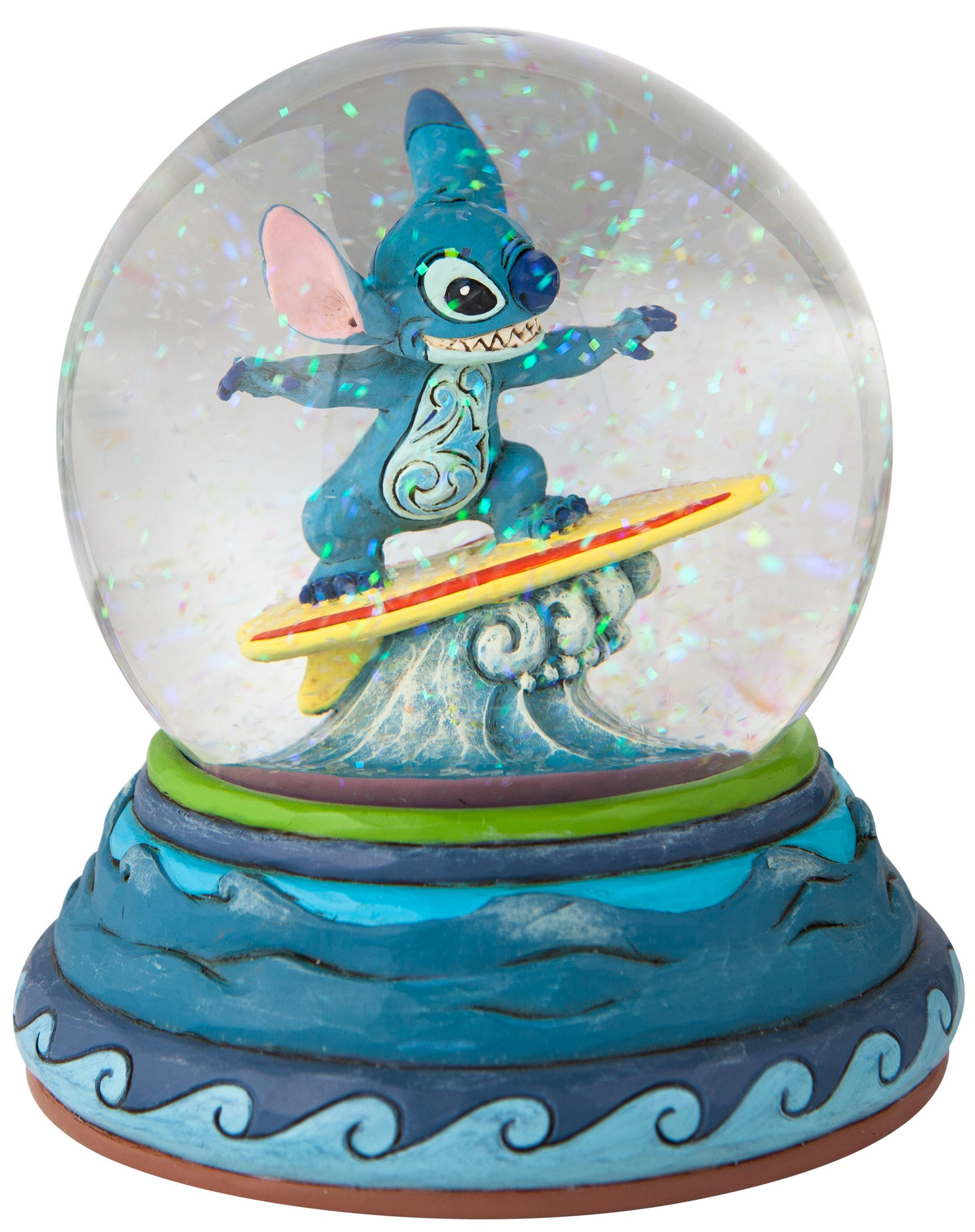 Jim Shore Disney 6007085N Stitch Waterball 100mm