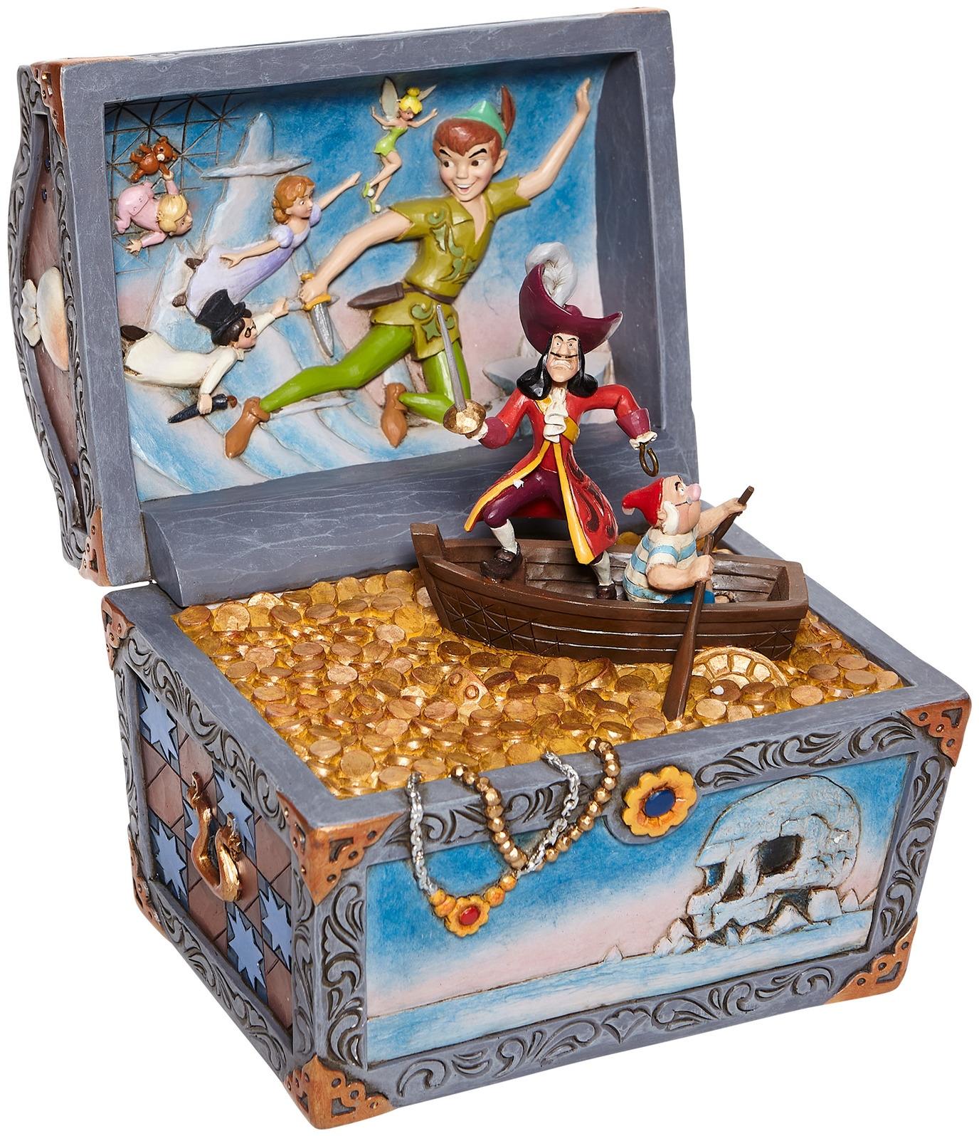 Jim Shore Disney 6008063N Peter Pan Treasure Chest Figurine