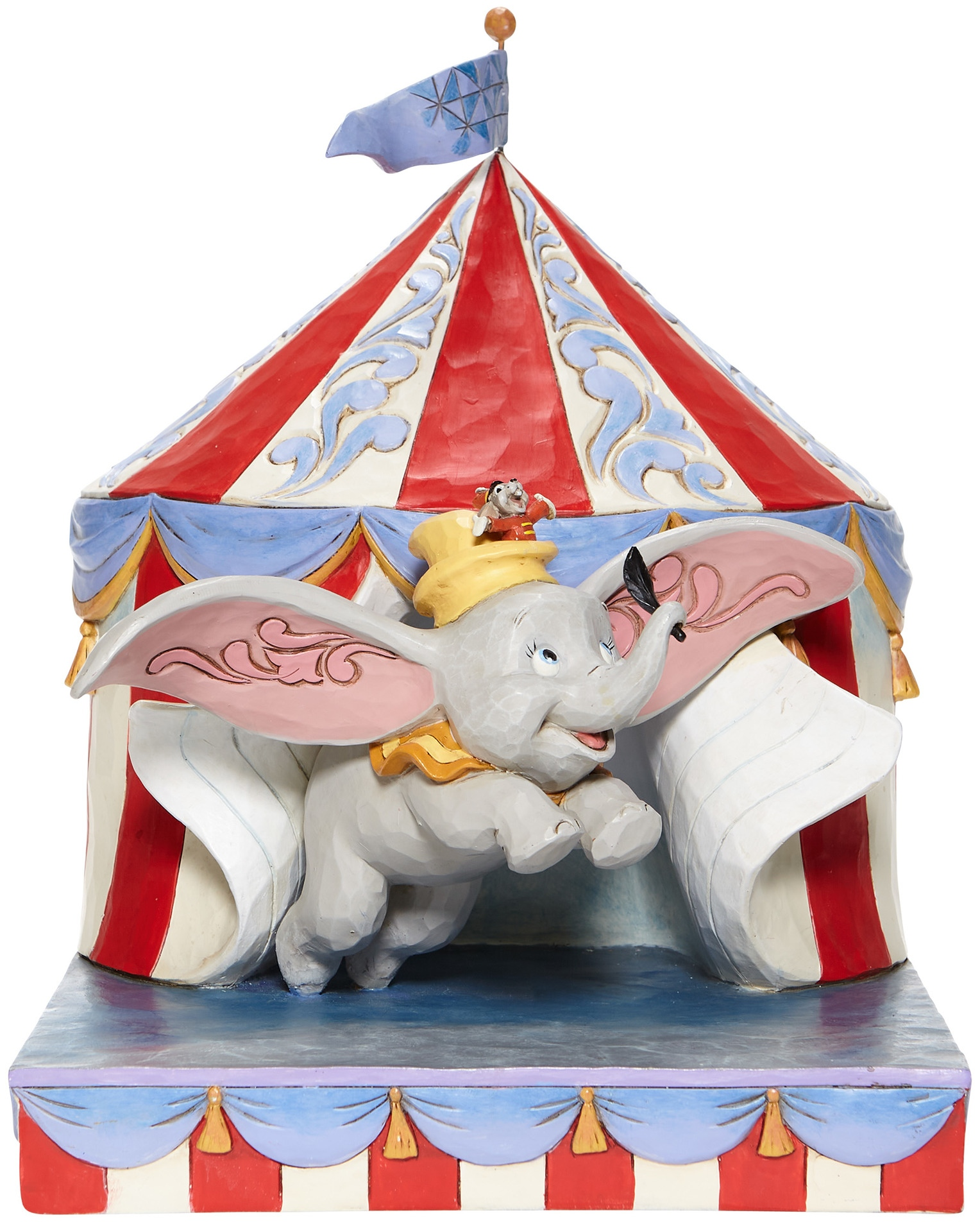 Jim Shore Disney 6008064N Dumbo Flying out of Tent Figurine