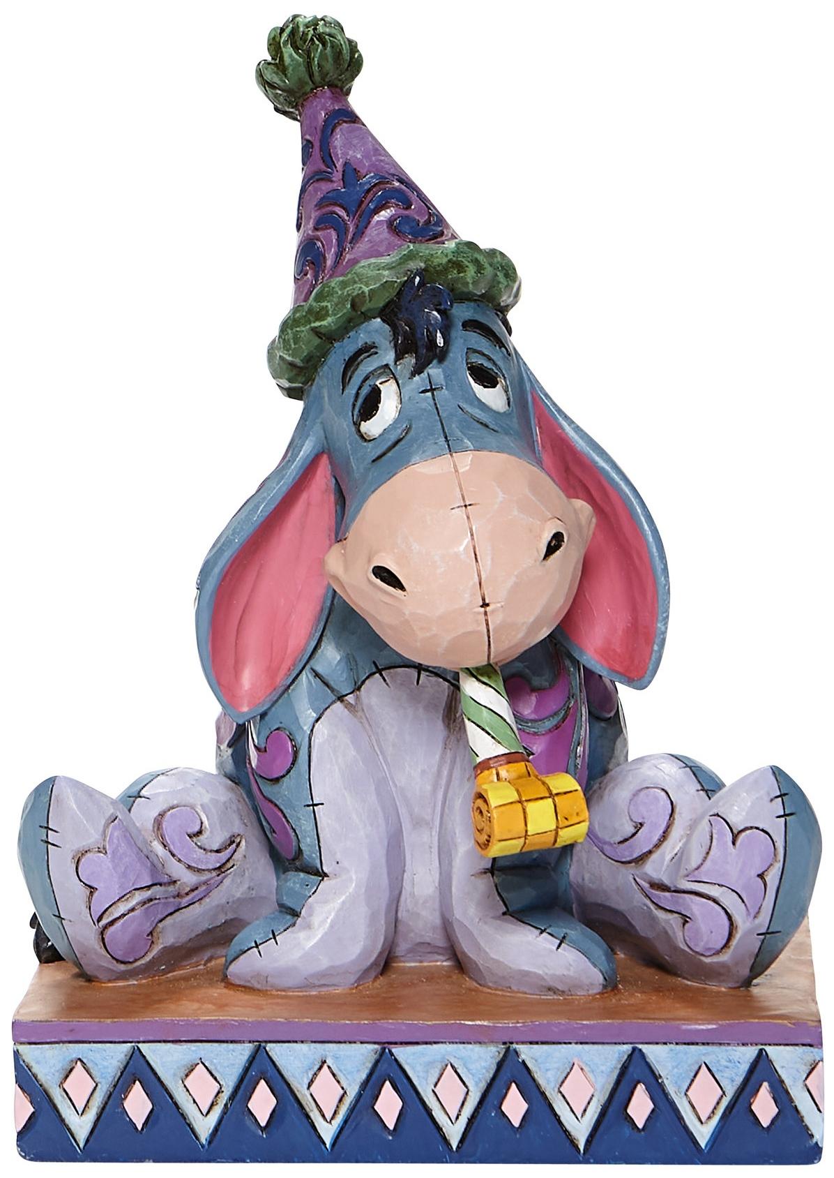 Disney Traditions by Jim Shore 6008074N Eeyore with Birthday Hat Figurine