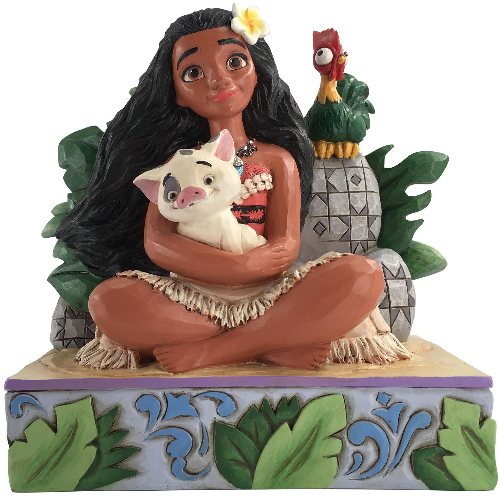 Jim Shore Disney 6008078 Moana with Pua & Hei Hei Figurine