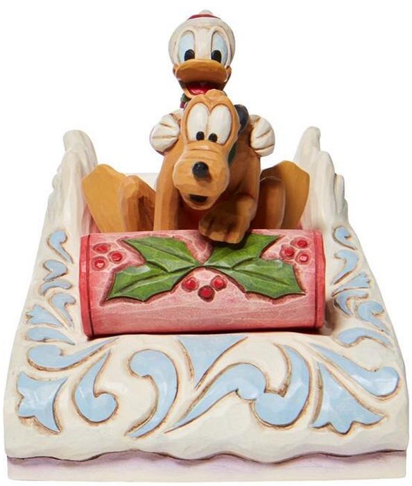 Jim Shore Disney 6008973 Donald and Pluto Sledding Figurine