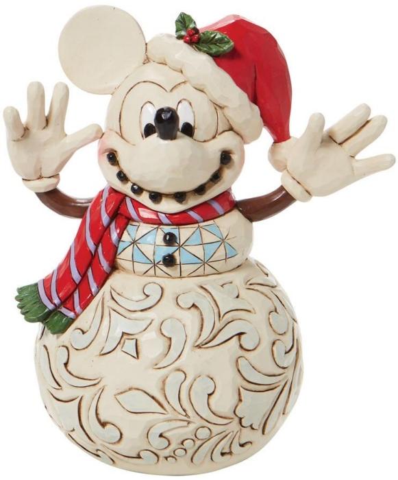 Jim Shore Disney 6008976 Mickey Mouse Snowman Figurine