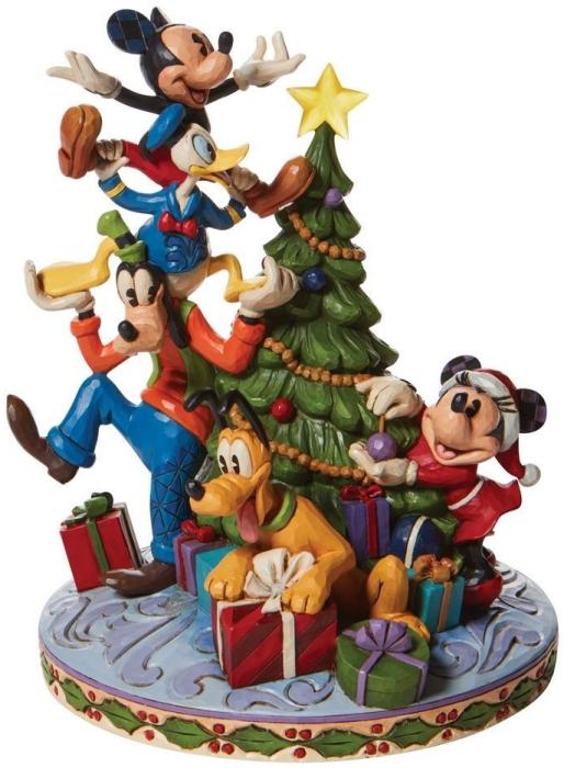 Jim Shore Disney 6008979N Fab 5 Decorating Tree Figurine