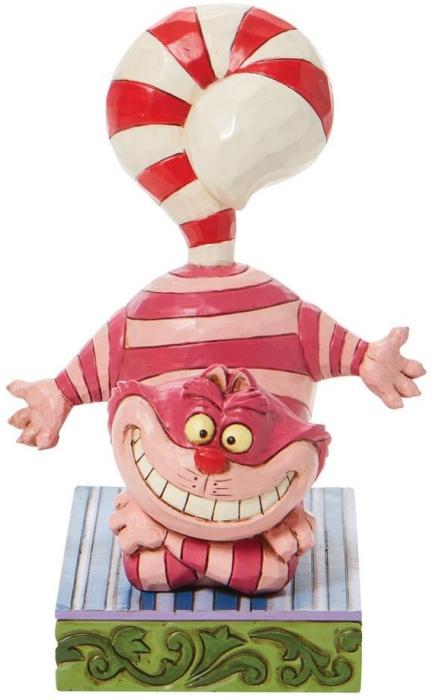 Jim Shore Disney 6008984 Cheshire Cat Candy Cane Tail Figurine
