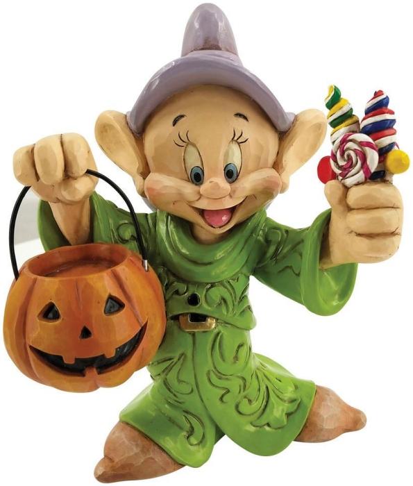 Jim Shore Disney 6008988 Dopey Halloween Pumpkin Figurine