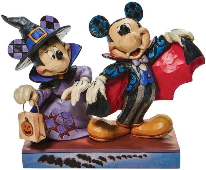 Jim Shore Disney 6008989N Minnie Witch with Vampire Figurine