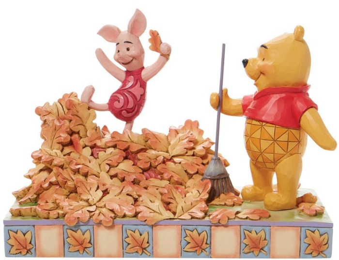 Jim Shore Disney 6008990N Pooh and Piglet Autumn Figurine
