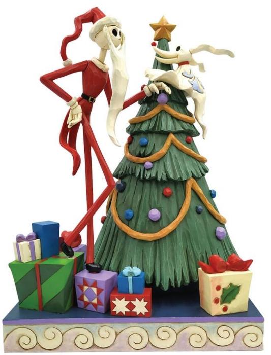 Jim Shore Disney 6008991 Santa Jack and Zero with Tree Figurine