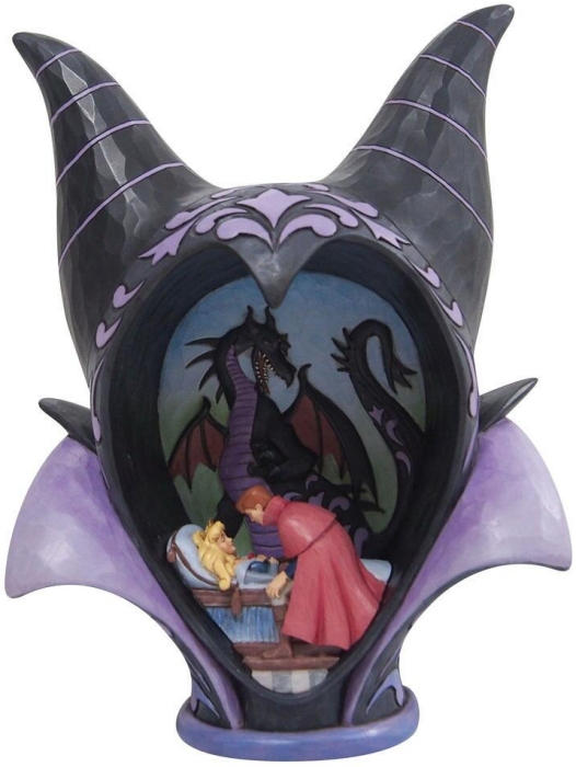 Jim Shore Disney 6008996 Maleficent Headdress Scene Figurine