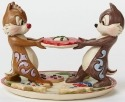 Jim Shore Disney 4046023 Chip and Dale on Plate o