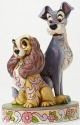 Jim Shore Disney 4046040 Lady and Tramp 60th Anni