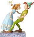 Jim Shore Disney 4059725 Peter Pan and Wendy 65th