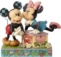 Jim Shore Disney 6000970 Kissing Booth Mickey & M