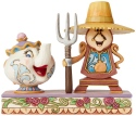 Jim Shore Disney 6002813 Cogsworth and Mrs Potts