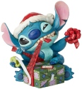 Disney Traditions by Jim Shore 6002833N Santa Stitch Wrapping Presents