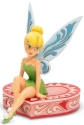 Disney Traditions by Jim Shore 6005966N Tinkerbell on a Box of Chocolates Figurine