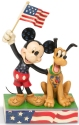 Disney Traditions by Jim Shore 6005975N Mickey and Pluto Patriot Figurine