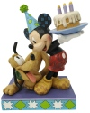 Disney Traditions by Jim Shore 6007058N Pluto Birthday with Mick Figurine