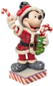 Disney Traditions by Jim Shore 6007068N Santa Mickey with Candy Figurine
