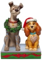 Jim Shore Disney 6007071 Christmas Lady & the Tramp Figurine