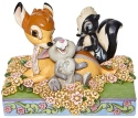 Disney Traditions by Jim Shore 6008318N Bambi Thumper & Flowers Figurine