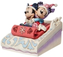 Disney Traditions by Jim Shore 6008972N Mickey and Minnie Sledding Figurine