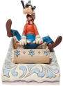Disney Traditions by Jim Shore 6008974N Goofy Sledding Figurine