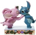 Disney Traditions by Jim Shore 6008980N Angel and Stitch Mistletoe Figurine