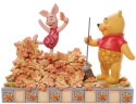 Disney Traditions by Jim Shore 6008990N Pooh and Piglet Autumn Figurine