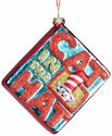 Dr Seuss by Department 56 4038927 Glass Cat Book Ornament