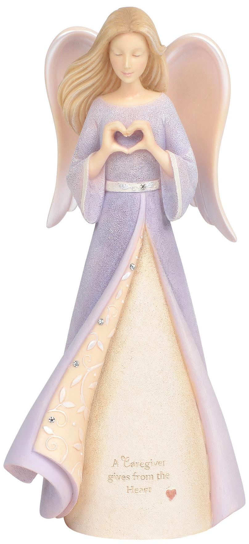 Foundations 6004089N Caregiveer Angel Figurine