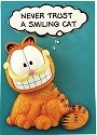 Garfield 15289 Never Trust A Smiling Cat Plaque