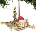 Gary Patterson Department 56 6000458 Christmas Bliss Cat ornament