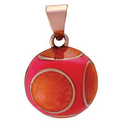Chiming Spheres 20CRH Orange and Pink Resin Pendant