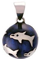 Chiming Spheres 20DLRHN Dolphin Pendant blue
