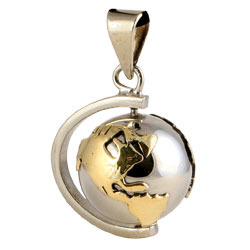 Chiming Spheres 20EGTAH Small Pendant With Earth on Axis