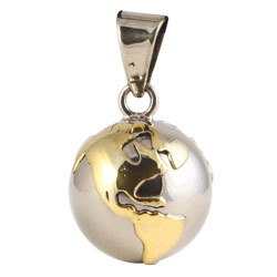 Chiming Spheres 20EGTH Small Pendant With Brass Earth